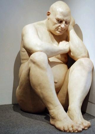 Ron Mueck, Sans titre (Big man), 2000.