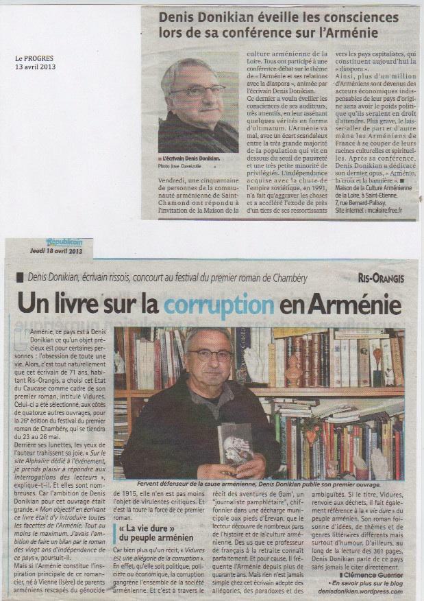 Conférence de Saint-Chamond Article dans Le Républicain