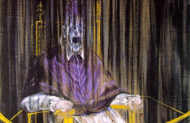 Francis Bacon, Etude d'après Veláquez : Portrait du Pape Innocent X, Detail (1953)