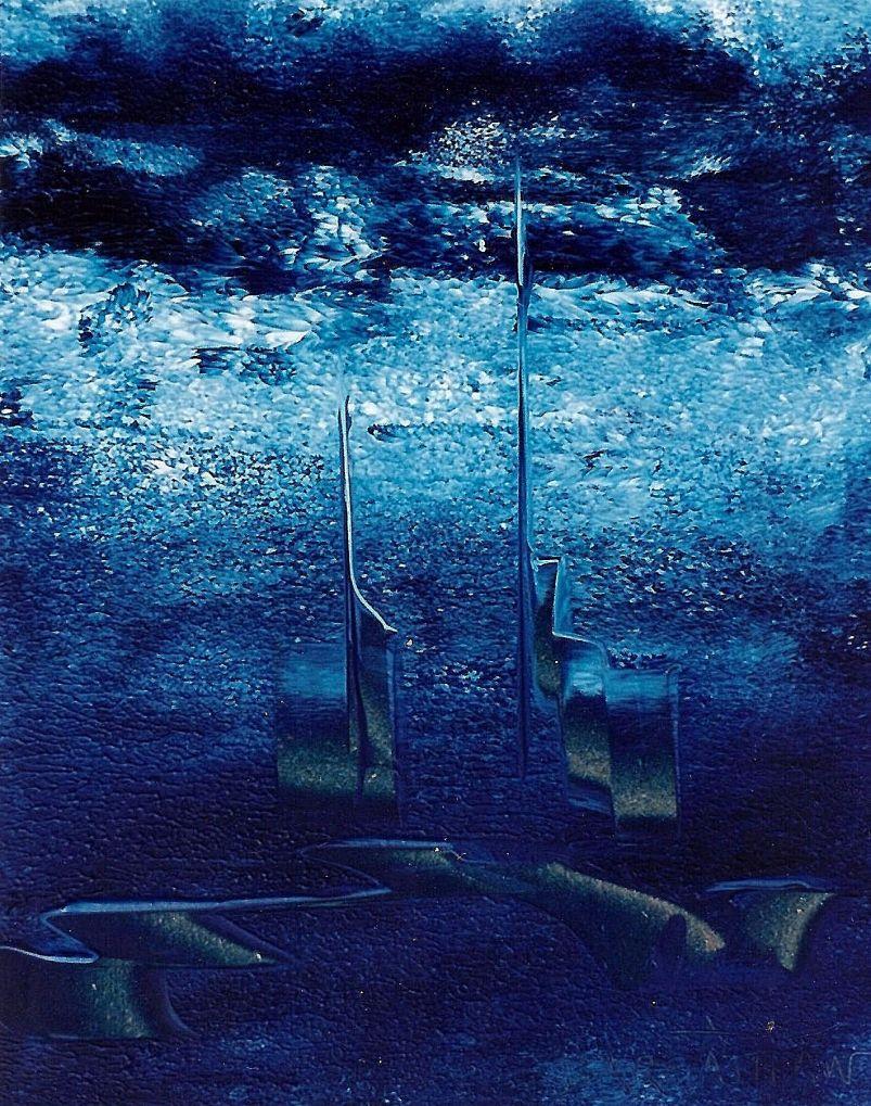 PEINTURE   008   0,24m X 0,19m Peinture acrylique sur bois
