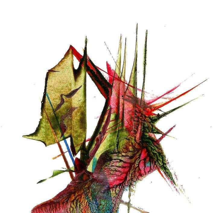 PEINTURE   023   0,15m X 0,15m  encre acrylique sur papier