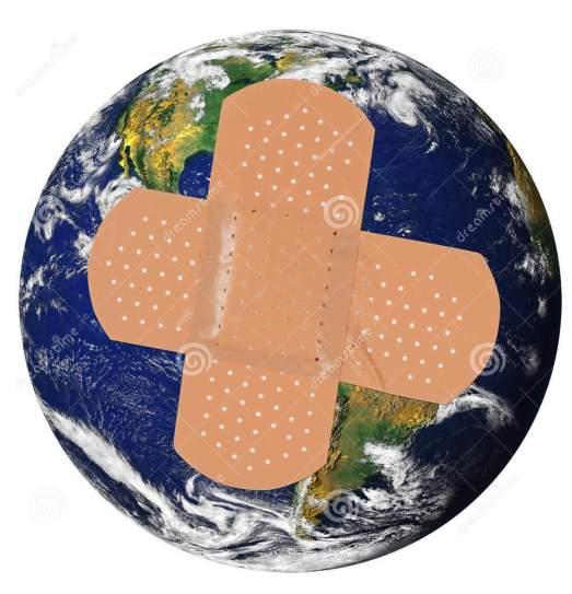la-terre-malade-avec-bandaid-24054898