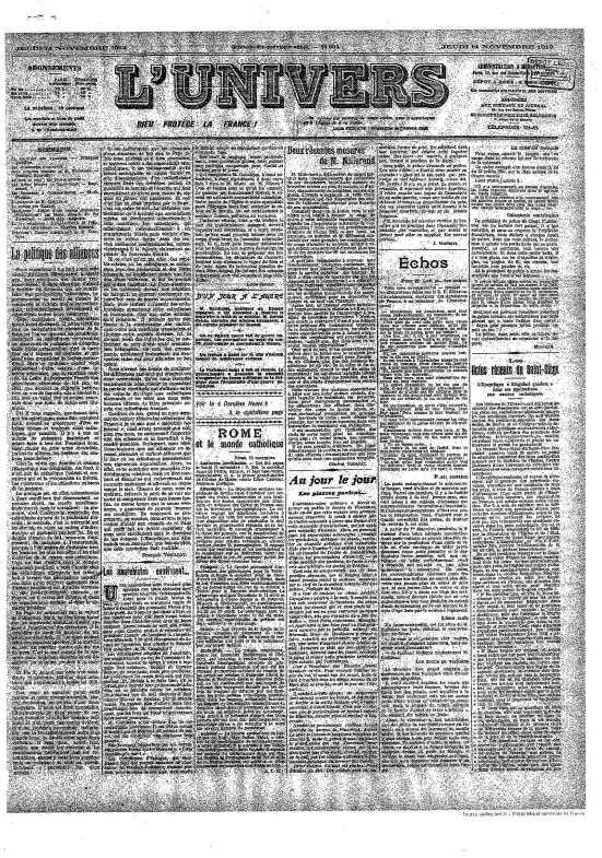 1912-11-14. L'Univers. Kibarian Vramchabouh 1